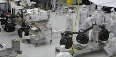 Curiosity (MSL) is built in a clean room to minimize contaminants brought to Mars from Earth.