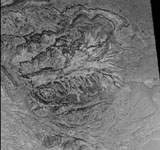 Fossilized distributary fan in Melas Chasma