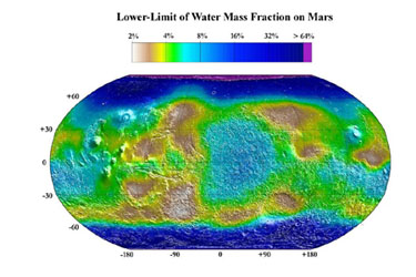 Lower-Limit of Water Mass Fraction on Mars